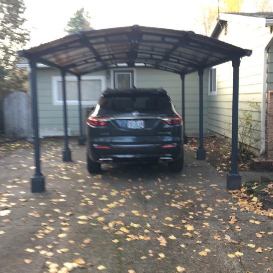 Palram Arcadia 6400 12 Ft X 21 Ft Car Canopy And Shelter Carport 705516 The Home Depot Car Canopy Carport Aluminum Carport