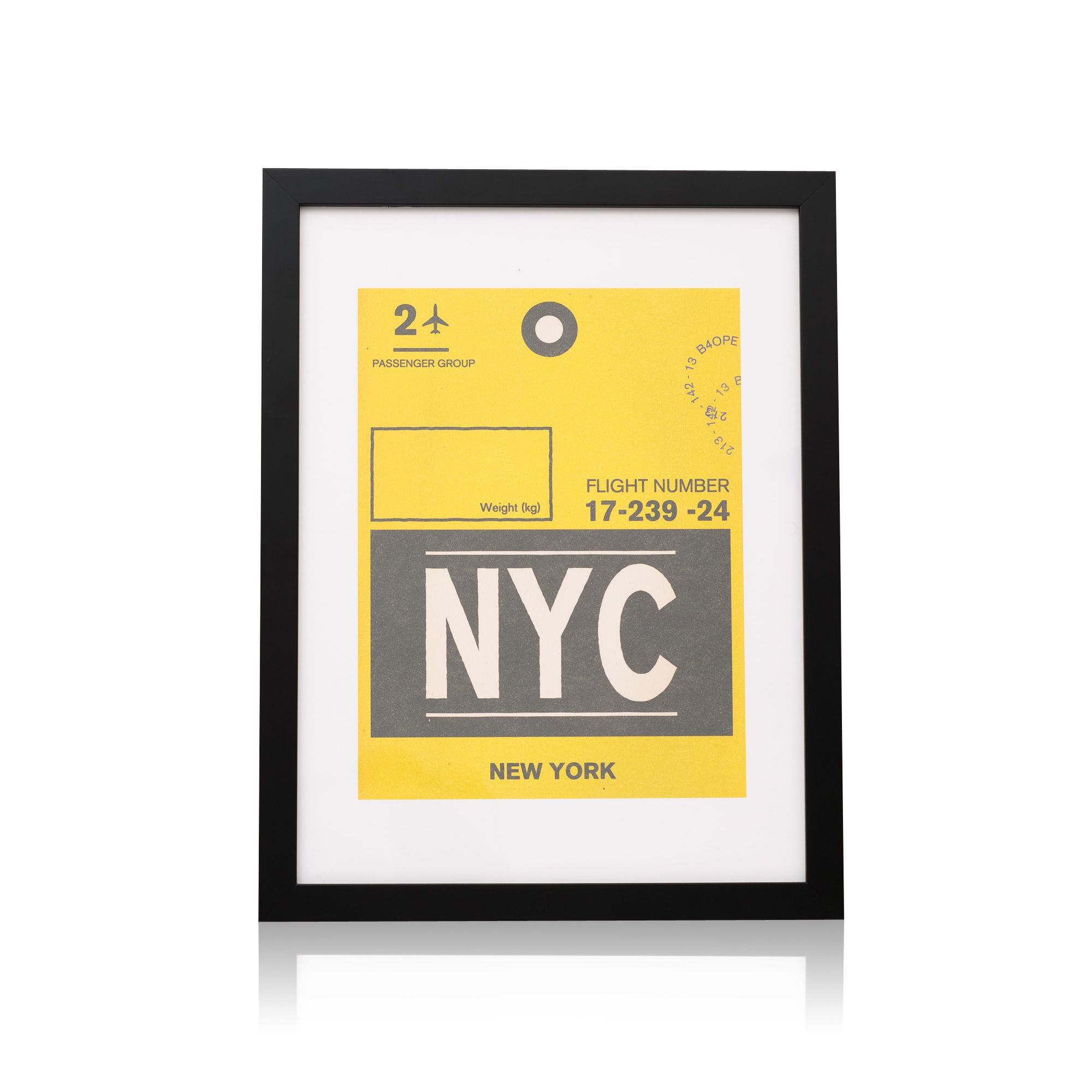 Buy the Luggage Tag, NYC Wall Art by Nick Cranston at Oliver Bonas ...