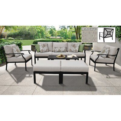 Kathy Ireland Homes Gardens By Tk Classics Kathy Ireland Madison Ave 8 Piece Sectional Seating Group With Cushions Cushion Color Truffle Outdoor Wicker Patio Furniture Patio Furniture Sets Ireland Homes