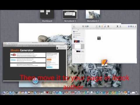 Generate a widget to easily add Youtube video into iBooks Author