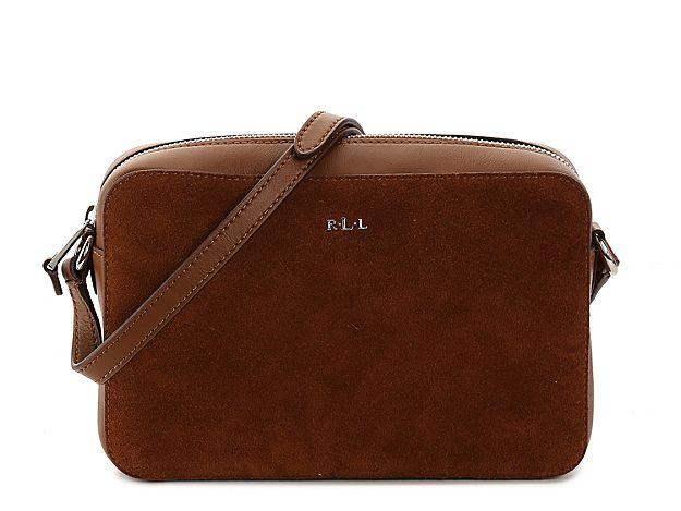c7843884df Women Dowell Camera Leather Crossbody Bag -Cognac Suede Leather ...