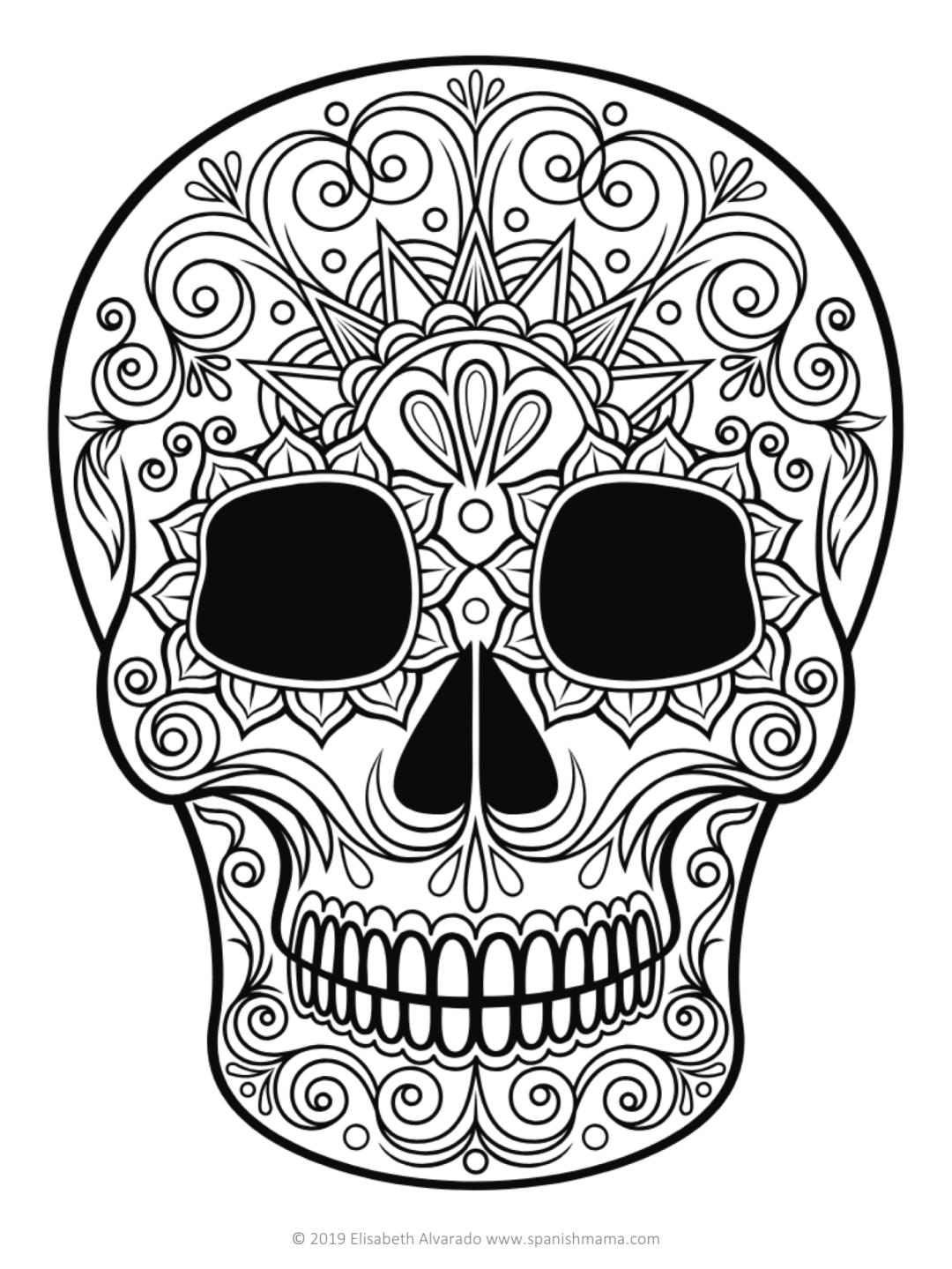 malvorlagen und masken für zuckerschädel für día de