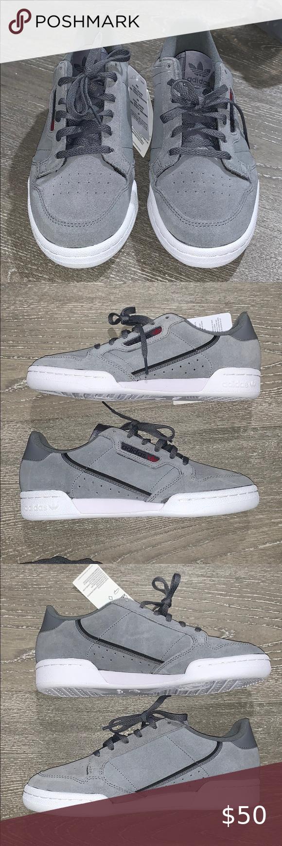 Adidas Continental 80 Grey Suede in