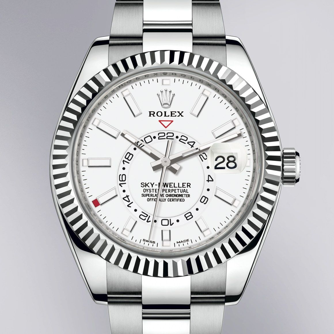 Rolex Sky Dweller In Oystersteel And White Gold In 2020 Rolex Sky Dweller White Gold