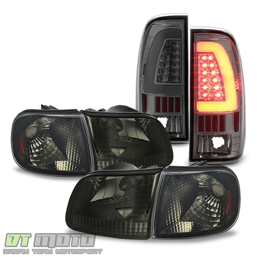 Ad Ebay Smoked 1997 2003 F 150 Replacement Headlights Led Tail Lights Brake Lamps Pair In 2020 Replacement Headlights Led Tail Lights Tail Light