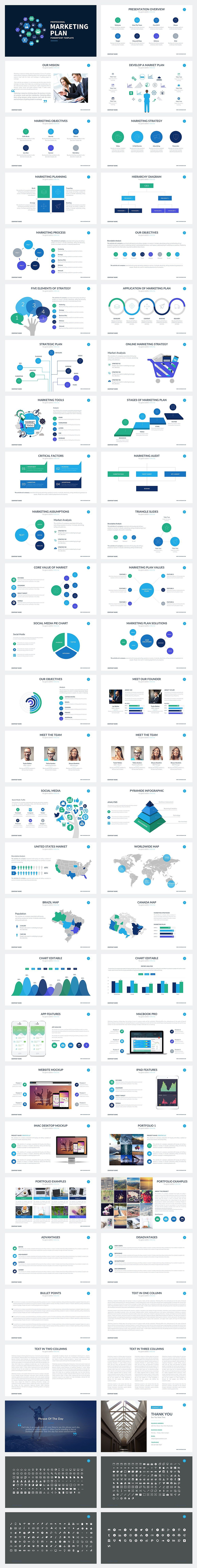Marketing Plan Powerpoint Template by SlidePro on @creativemarket ...