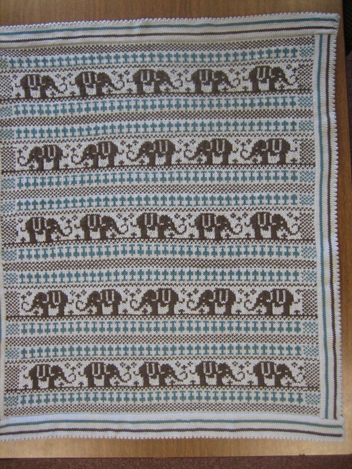 Elephant Blanket pattern by Rebecca Lennox | Elephant blanket ...