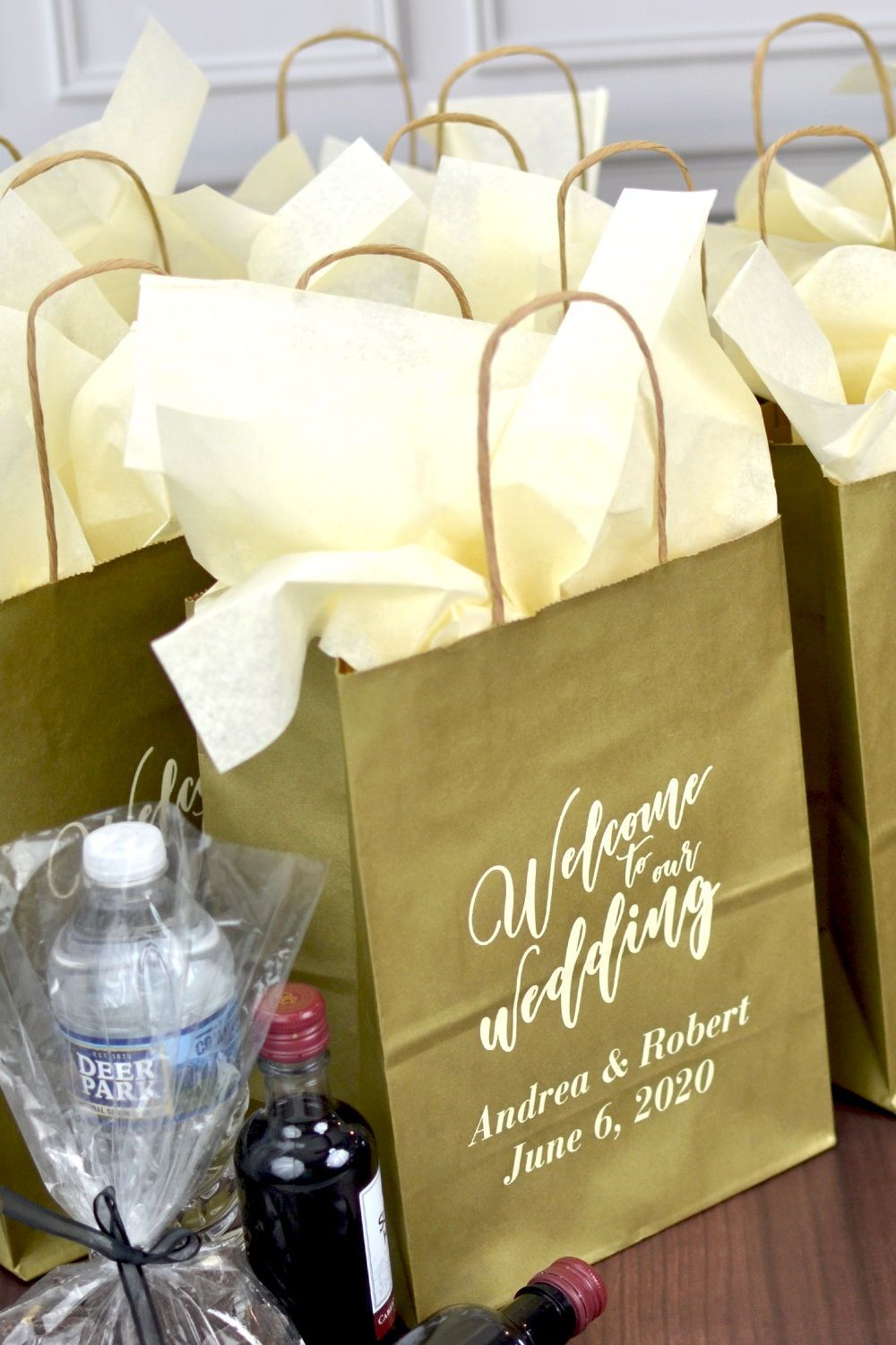 8 X 10 Kraft Wedding Welcome Gift Bags Personalized Wedding Welcome Gifts Wedding Hotel Gift Bags Wedding Hotel Gifts