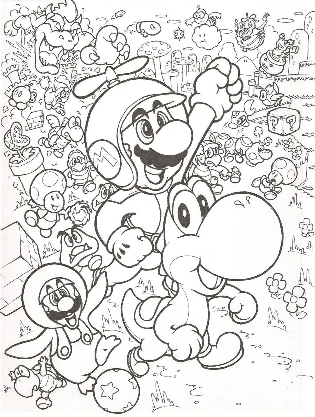 Image Result For Super Mario Coloring Pages