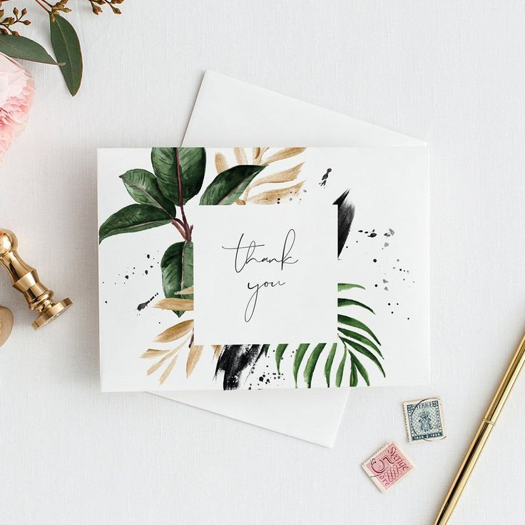 Editable Tropical thank you card Template thank you card Printable Monstera Wedding Cards Palm Leaf Editable thank you card Banana Leaf 119 - Design - #Banana #Card #Cards #Design #Editable #Leaf #Monstera #Palm #Printable #Template #Tropical #wedding #personalizedwedding