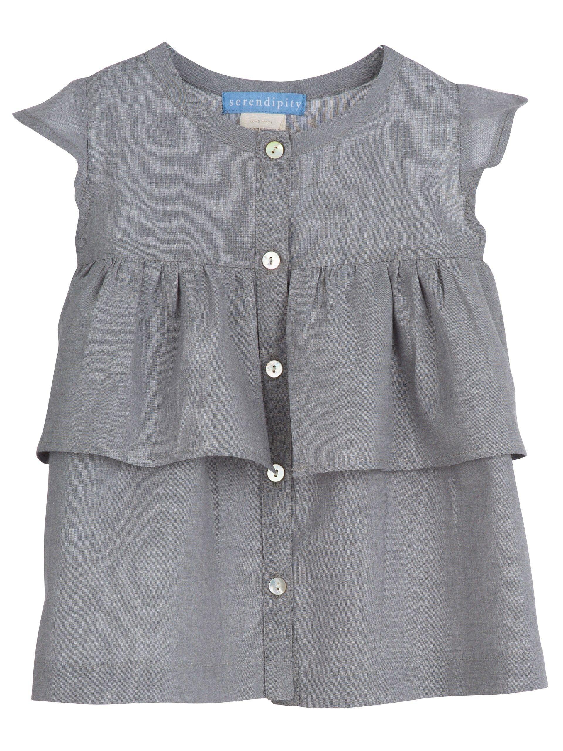 7679b219 serendipity kjole med skørte grå grey pige girl ss17 nyhed gladerollinger  baby