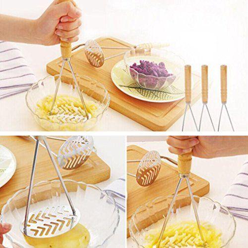 Masher Potato Stainless Steel Ricer Fruit Handle Vegetable Press Mash Tool LC
