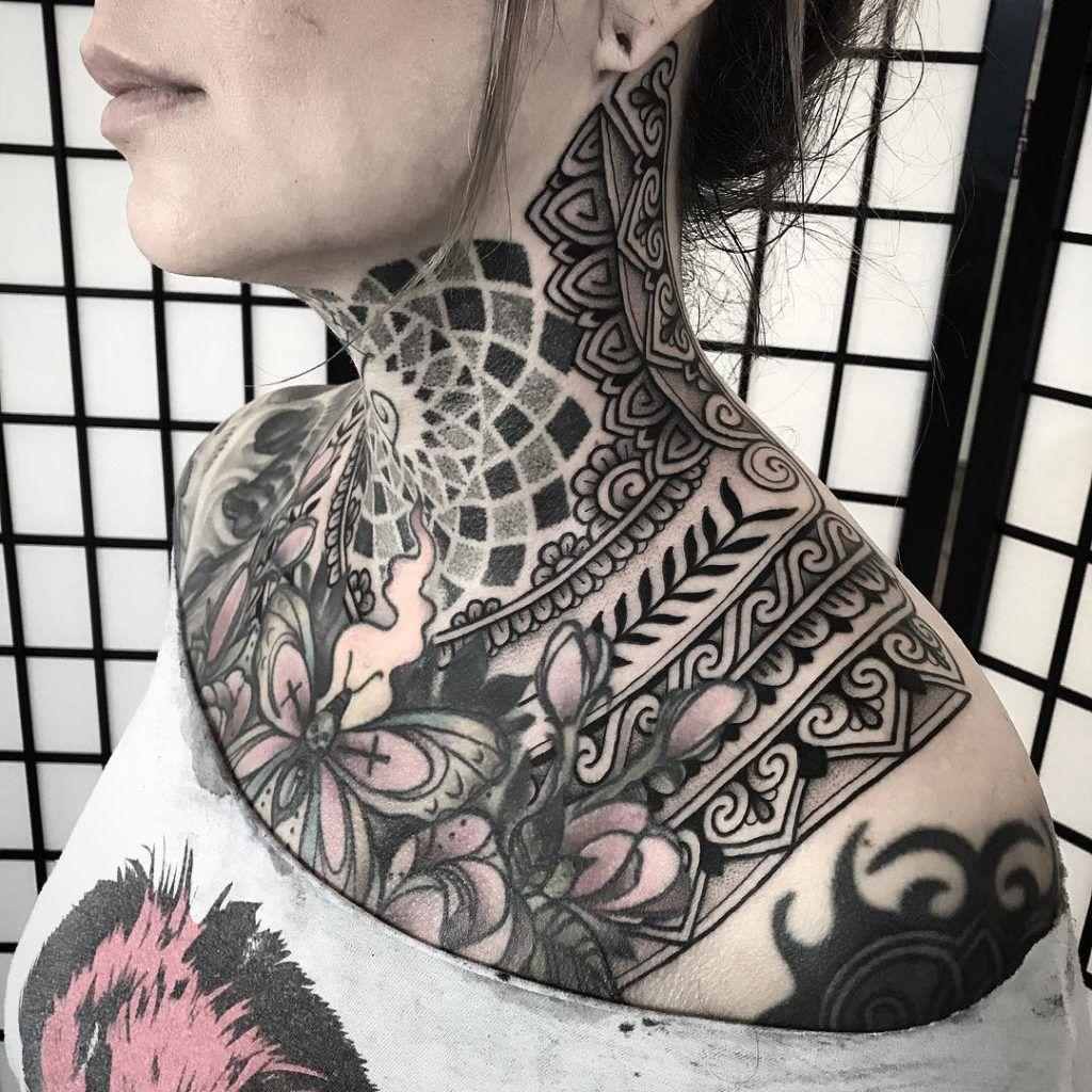 Ornamental tattoo artist Jack Peppiette. An ornamental