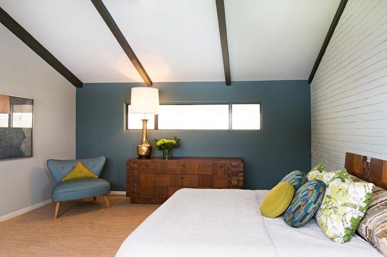 Letto Blu Colore Parete : Colori pareti camera da letto blu petrolio bedroom nel