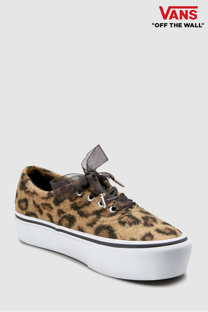 f38daf0db301 Womens Vans Leopard Print Authentic Platform - Animal | OhMaGawd ...