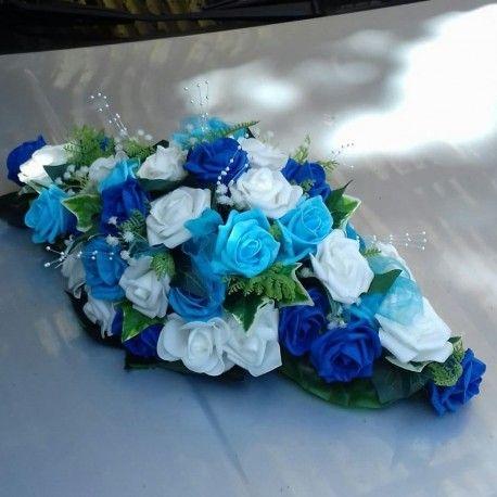 Composition De Voiture Pour Mariage Theme Bleu Roi Et Turquoise En