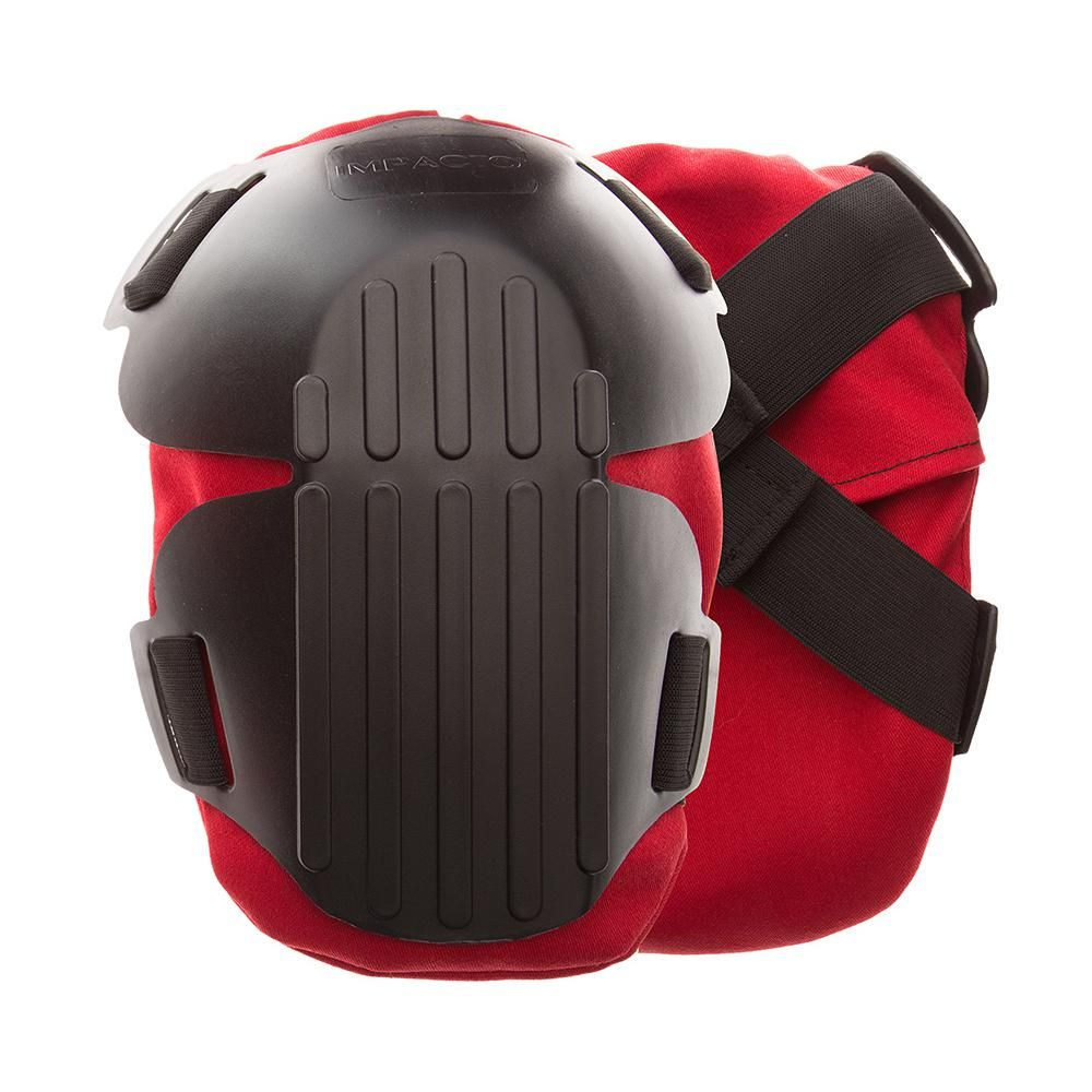Impacto Protective Products Black Red Gel Fire Retardant Work Knee Pads Reds Pinks Knee Pads Black And Red Kneeboards