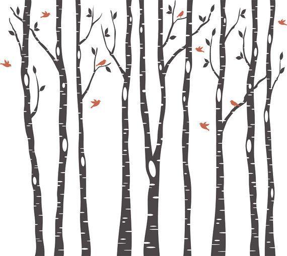 Birch Tree Stencil Printable Google Search Quilt Pinterest Birch Stenciling