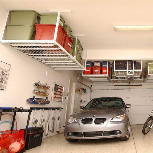 White Steel Ceiling Storage Shelf Rack Garage Shed Carport