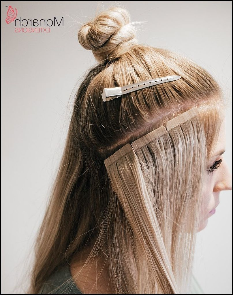 monarch extensions top knot tape in method … | hair