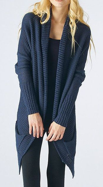 Blue Sidetail Open Cardigan. This is only $19.99 on Zulily...can't ...