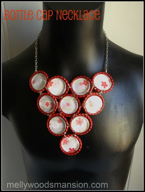 Bottle Cap Necklace - A fun easy craft great for those wanting to try jewelry making