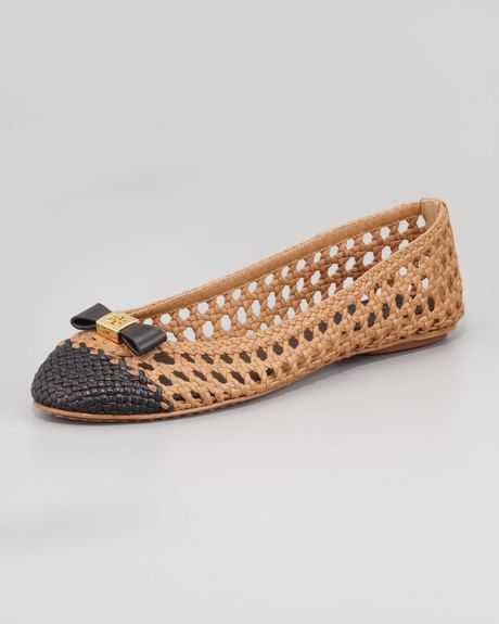 3df08fd0578a Carlyle Woven Leather Ballerina Flats - Lyst