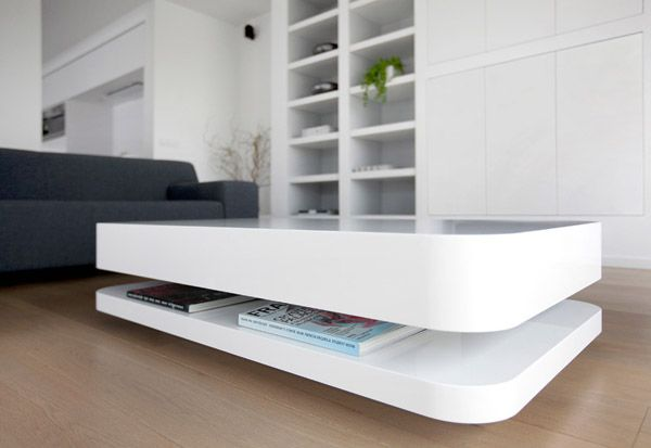 cool design by ronald knol side table white - Table Design Italienne