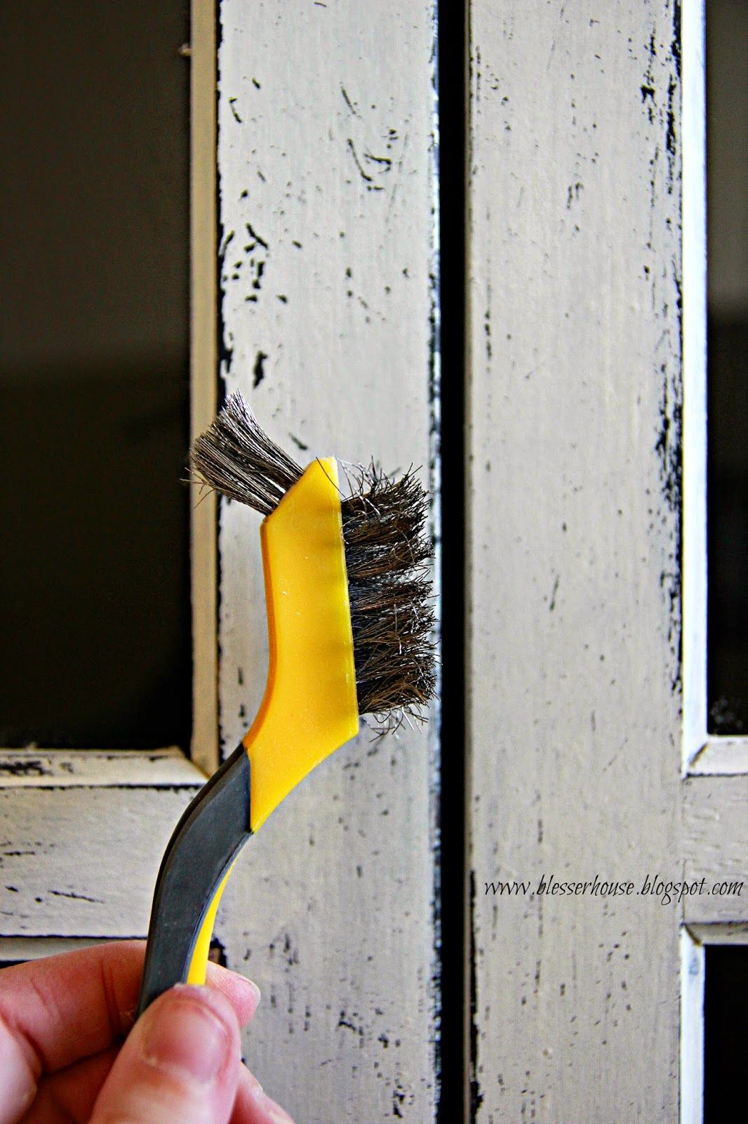 The Most Convincing Distressing Technique For Natural Wear And Tear. Yellow Distressed  FurnitureDistressed Furniture PaintingYellow ...
