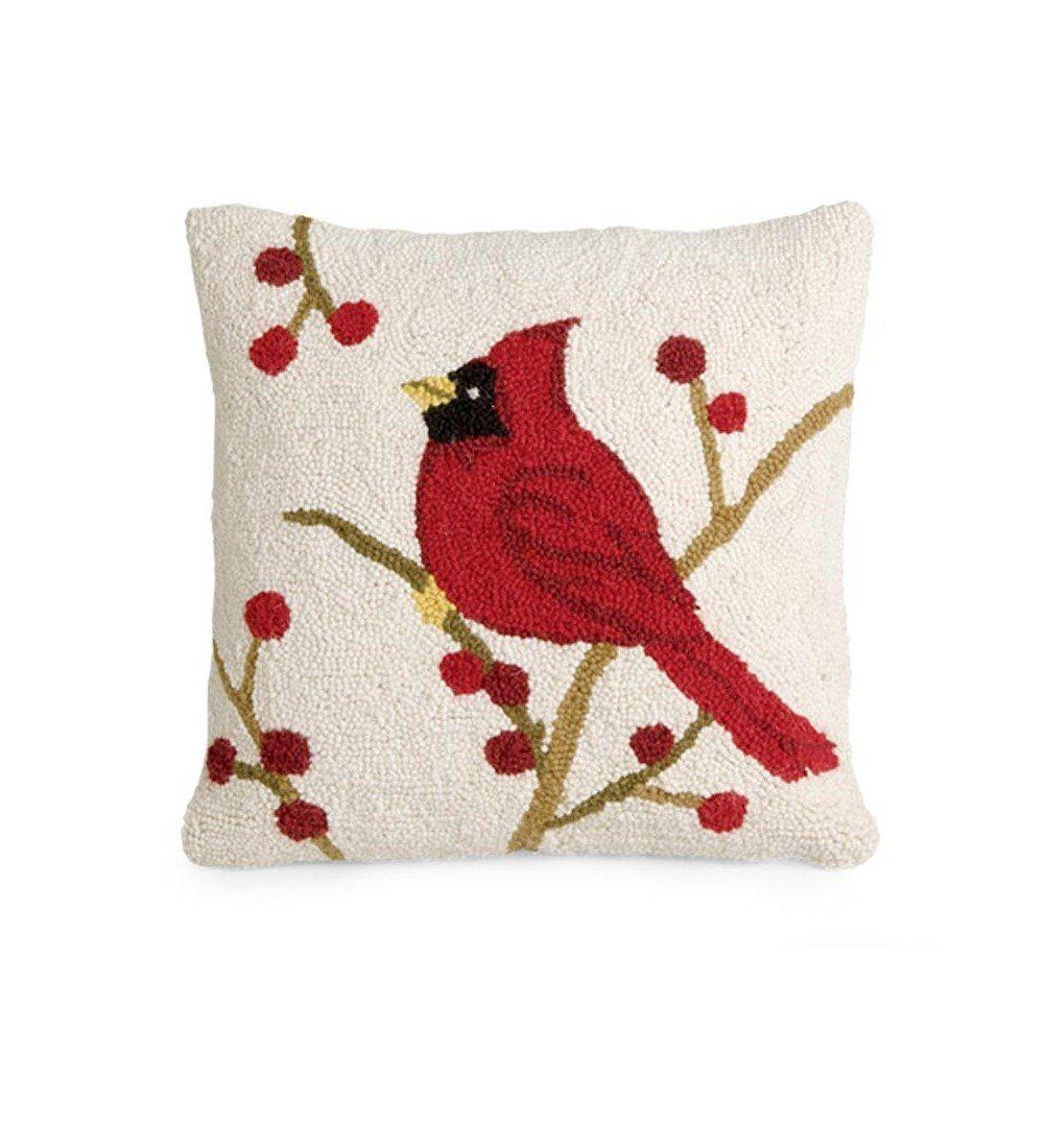 Christmas Cardinal Throw Pillows   Christmas Wikii   Sewing ...