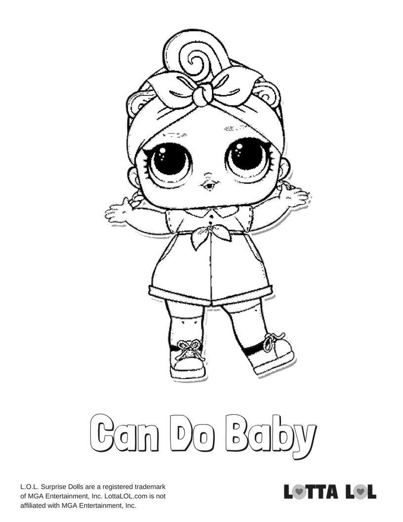 Can Do Baby Coloring Page Lotta Lol With Images Baby Coloring