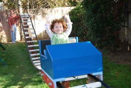 Backyard Roller Coaster. Umm thank goodness my husband ...