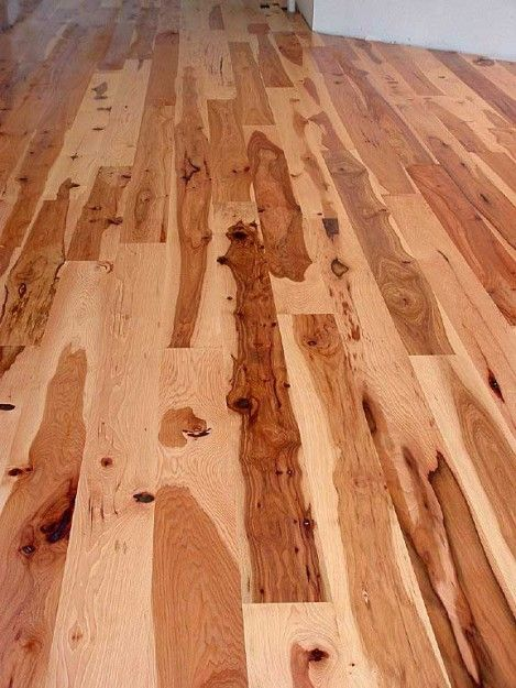 Rustic Hickory Flooring I like this wide plank euro