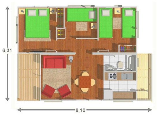 Plano de casa de 6 x 8 construccion pinterest planos for Plano construccion casa