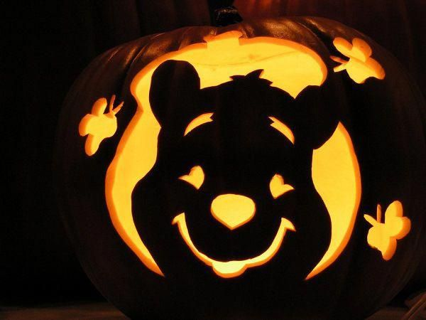 Pumpkin Carving Winnie the Pooh! #pumpkincarvingstencils