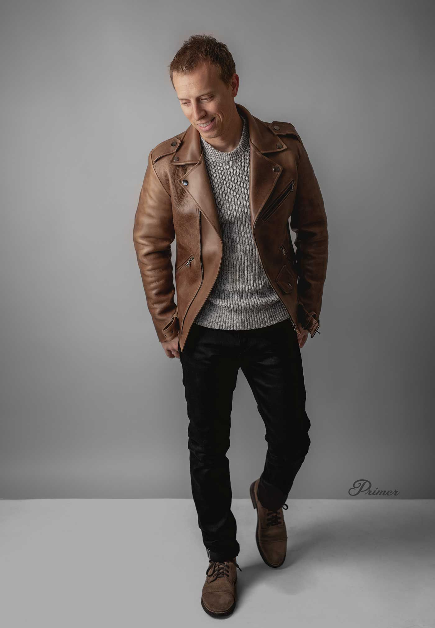 These 7 Shoppable Outfits Prove You Can Pull Off A Brown Leather Jacket Brown Leather Jacket Men Leather Jacket Outfit Men Brown Leather Jacket Outfit