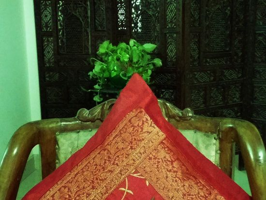 Brocade Home Decor Decoration indian red cushion cover party decor banarasi silk brocade fabric