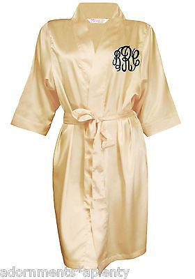 07b70788d8 Champagne-Satin-Robe-Monogrammed-Luxury-Silky-Satin-Robe-Bridesmaid-Robes