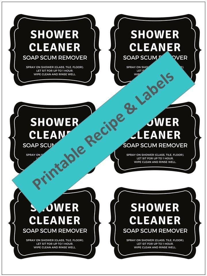 Antimold mildew spray shower cleaner homemade shower