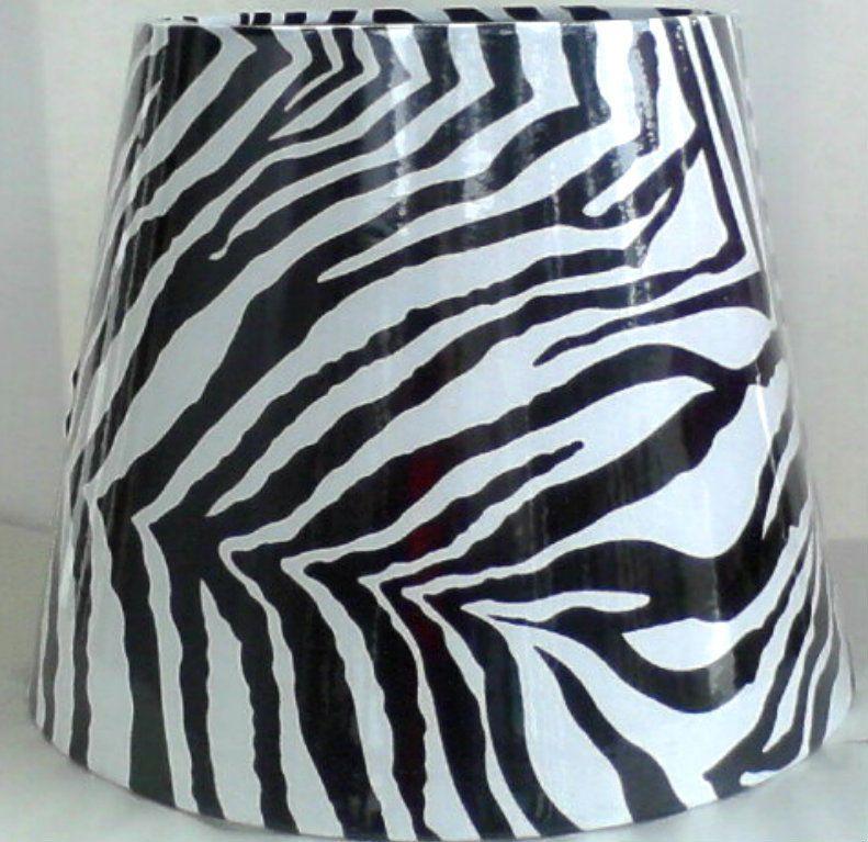 Zebra Animal Print Better Homes Gardens Fabric Lampshade Tapered