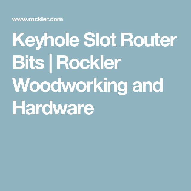 Rockler Keyhole Slot Router Bits 1 4 Shank Tools