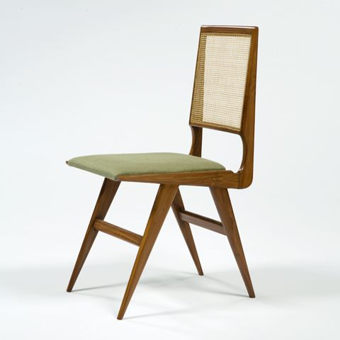 Martin Eisler , Caviona Wood Chair With Cane, 1950u0027s