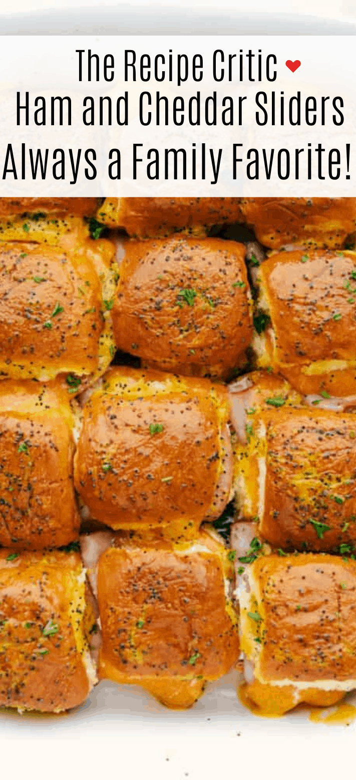 Ham and Cheddar Sliders are soft and buttery baked rolls filled with sliced ham and ooey gooey cheese. They are the perfect quick and easy crowd-pleasing meal!