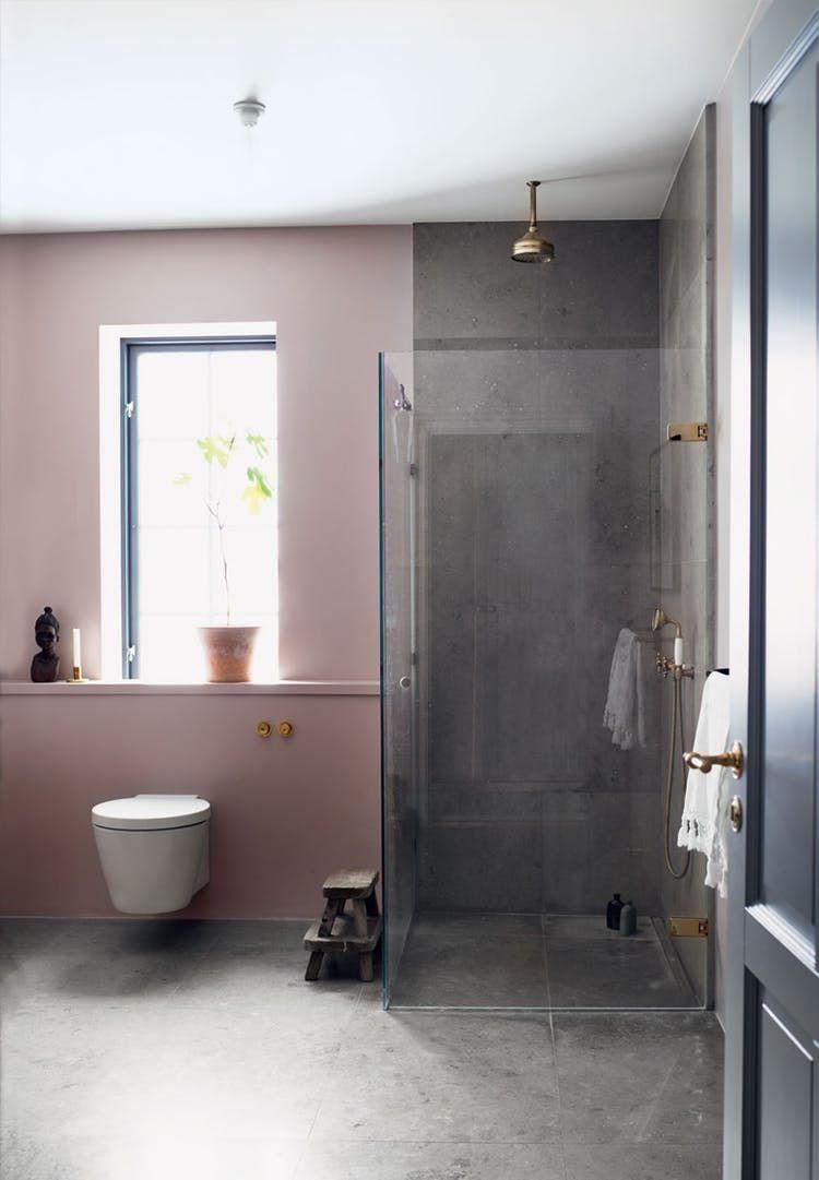 Photo of Mikkel Adsbøl's Nordic home # bathroom inspiration Sensitive and raw shower
