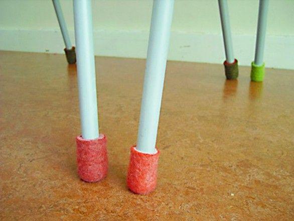 Felt Furniture Leg Covers: Functional, Yet Playful I Could Needle Felt  These.
