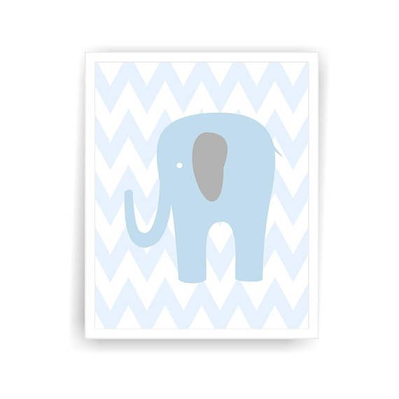 This listing is for a set of 4 printable elephant giraffe nursery