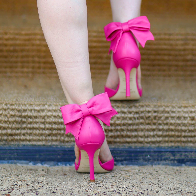 Kate Spade pink bow heels. | Bow heels