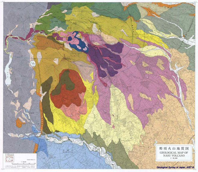 Beautiful Destruction Gorgeous Geologic Maps Of Volcanoes - Japan map volcanoes