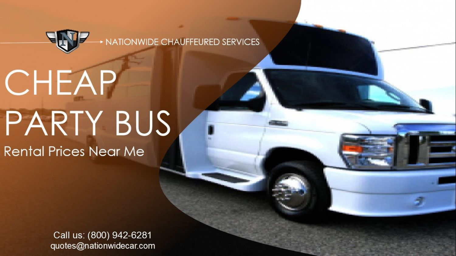 Cheap party bus rental prices near me visually