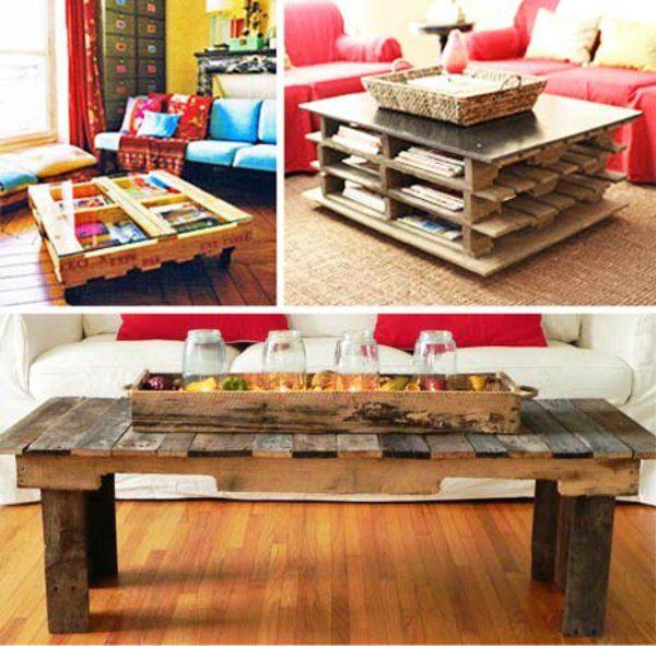 Europaletten Holz Paletten Mbel Bastelideen DIY Cool Modern Wohnzimmer